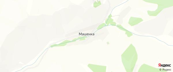 Карта села Машенки в Алтайском крае с улицами и номерами домов