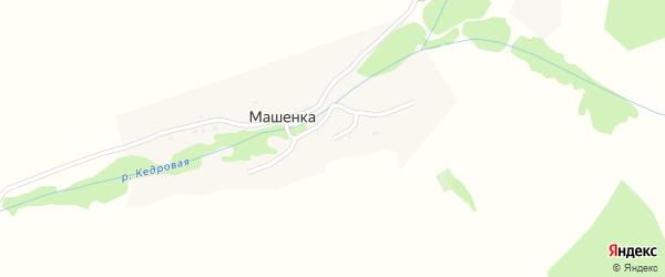 Предгорная улица на карте села Машенки с номерами домов