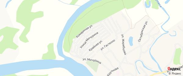 Карта садового некоммерческого товарищества Моторостроителя-2 в Алтайском крае с улицами и номерами домов