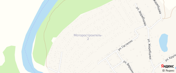 Дальняя 2-я улица на карте садового некоммерческого товарищества Моторостроителя-2 с номерами домов
