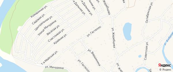 Улица Гастелло на карте села Бобровки с номерами домов