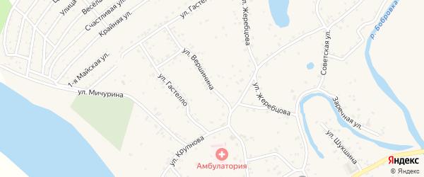 Улица Вершинина на карте села Бобровки с номерами домов