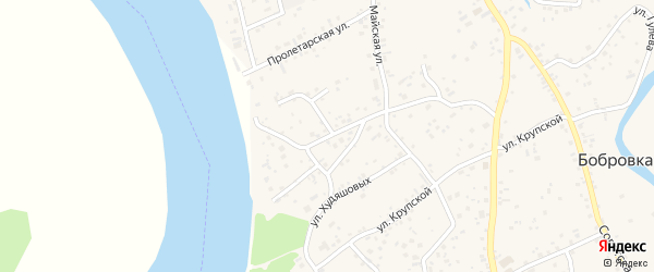 Улица Охапкина на карте села Бобровки с номерами домов