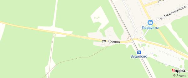 Улица Кордон на карте села Зудилово с номерами домов