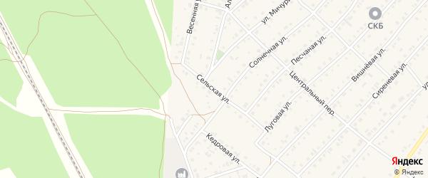 Сельская улица на карте села Зудилово с номерами домов