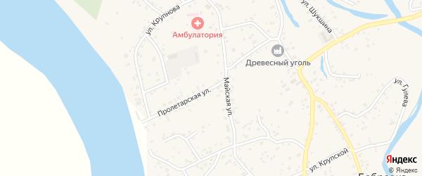 Пролетарская улица на карте села Бобровки с номерами домов