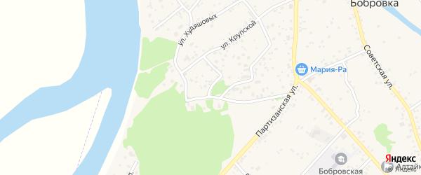 Дачный переулок на карте села Бобровки с номерами домов