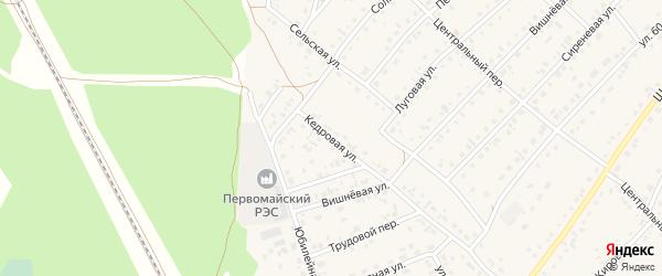 Кедровая улица на карте села Зудилово с номерами домов