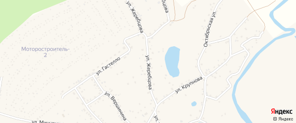 Улица Жеребцова на карте села Бобровки с номерами домов
