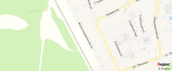 Железнодорожная улица на карте садового некоммерческого товарищества Путейца с номерами домов