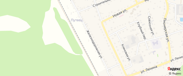 Железнодорожная улица на карте разъезда Голубцово с номерами домов