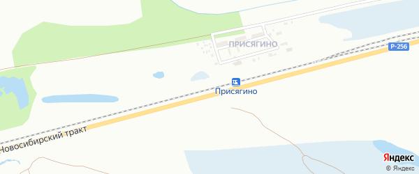 Территория ст Присягино на карте Новоалтайска с номерами домов
