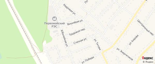Трудовой переулок на карте села Зудилово с номерами домов