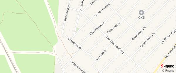 Песчаная улица на карте села Зудилово с номерами домов