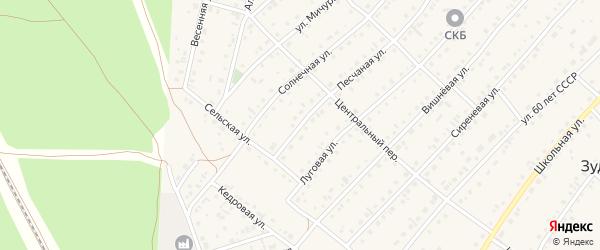 Солнечная улица на карте садового некоммерческого товарищества Лесные поляны с номерами домов