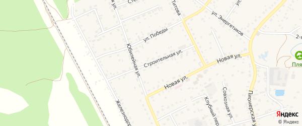 Строительная улица на карте села Зудилово с номерами домов