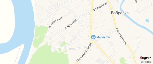 Микрорайон Кедр на карте села Бобровки с номерами домов