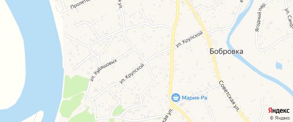 Улица Крупской на карте села Бобровки с номерами домов