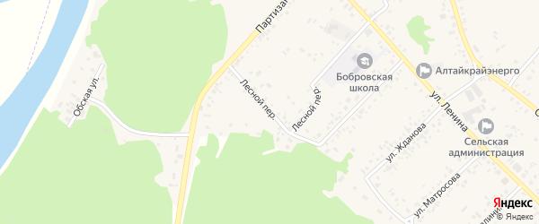 Лесной переулок на карте села Бобровки с номерами домов