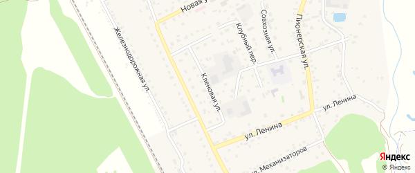 Кленовая улица на карте села Зудилово с номерами домов
