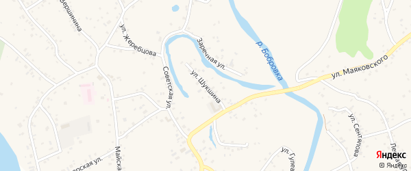 Улица Шукшина на карте села Бобровки с номерами домов