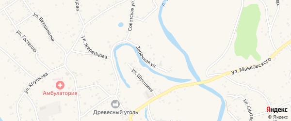 Заречная улица на карте села Бобровки с номерами домов