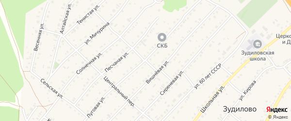 Луговая улица на карте села Зудилово с номерами домов