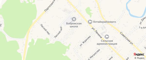 1-я Зеленая улица на карте села Бобровки с номерами домов