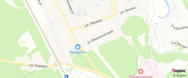 Улица Механизаторов на карте села Зудилово с номерами домов