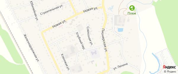 Совхозная улица на карте села Зудилово с номерами домов