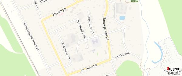 Южный переулок на карте села Зудилово с номерами домов