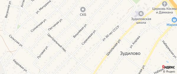 Сиреневая улица на карте села Зудилово с номерами домов