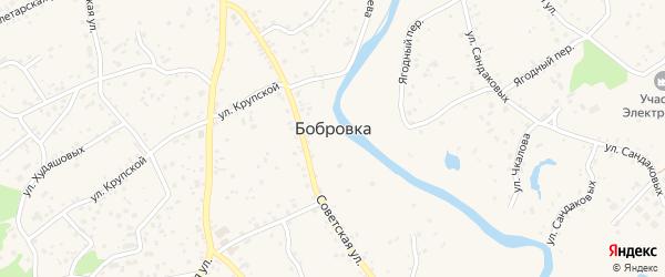 Северный микрорайон на карте села Бобровки с номерами домов