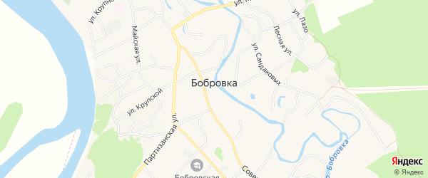 Карта села Бобровки в Алтайском крае с улицами и номерами домов