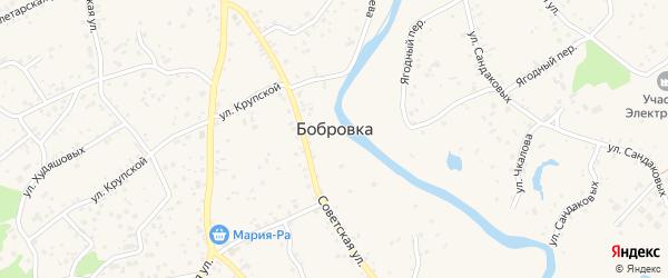 Заречный микрорайон на карте села Бобровки с номерами домов