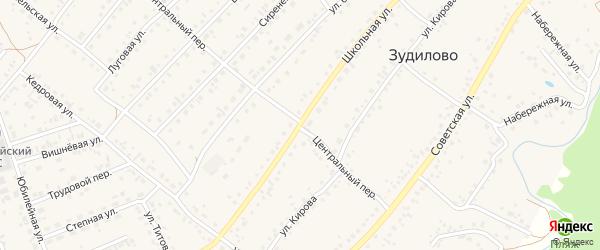 Школьная улица на карте села Зудилово с номерами домов