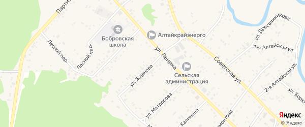 Улица Жданова на карте села Бобровки с номерами домов