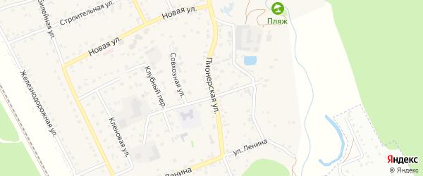 Улица Пионеров на карте Новоалтайска с номерами домов