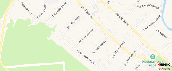 Улица Матросова на карте села Бобровки с номерами домов