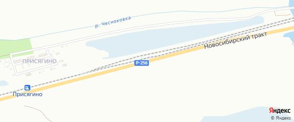 Новосибирский тракт на карте Барнаула с номерами домов