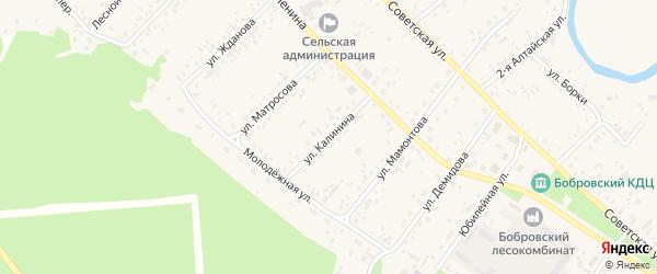Улица Калинина на карте села Бобровки с номерами домов