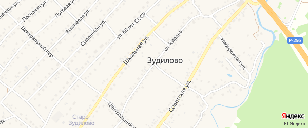Улица Кирова на карте села Зудилово с номерами домов