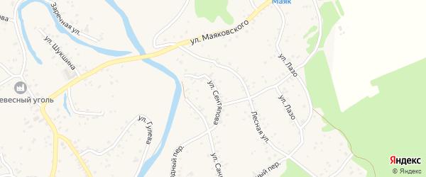 Улица Сентяпова на карте села Бобровки с номерами домов