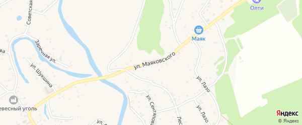 Улица Маяковского на карте села Бобровки с номерами домов