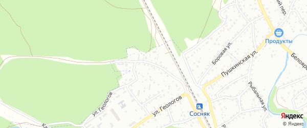 Пригородная улица на карте Новоалтайска с номерами домов