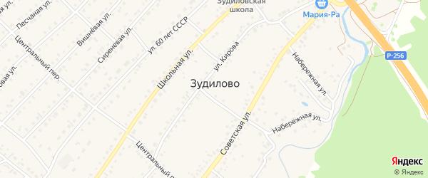 Тепличный переулок на карте села Зудилово с номерами домов