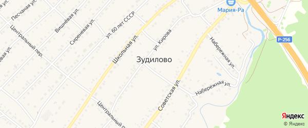 Майская улица на карте села Зудилово с номерами домов