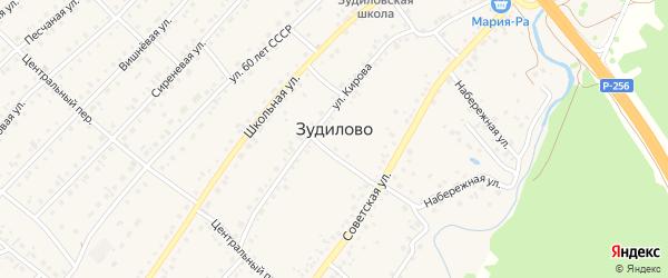 Улица Пушкина на карте села Зудилово с номерами домов