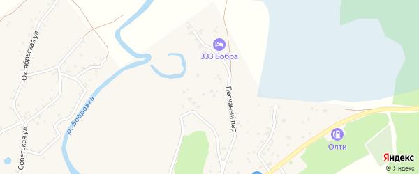Микрорайон Ладанка на карте села Бобровки с номерами домов