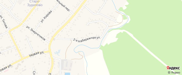 2-я Набережная улица на карте села Зудилово с номерами домов